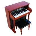 Traditional Spinet Piano with Matching Bench