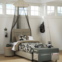 Cargo Upholstered Bed, Childrens Twin Beds | Full Beds | ABaby.com