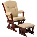 Cushion Glider with Ottoman, Wood Glider | Sliech Gliders | ABaby.com