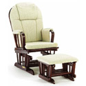 Deluxe Glider with Ottoman, Wood Glider | Sliech Gliders | ABaby.com