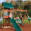 Brentwood Swing Set, Outdoor Toys | Kids Outdoor Play Sets | ABaby.com