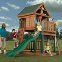 Design 3 Wooden Play Set, Outdoor Toys | Kids Outdoor Play Sets | ABaby.com