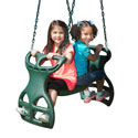 Dual Ride Glider, Kids Swing Set Accessories |Outdoor Swing Sets | ABaby.com