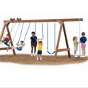 Scout Swing Set - Project 145, Outdoor Toys | Kids Outdoor Play Sets | ABaby.com