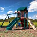 Summerville Fort Swing Set, Kids Swing Sets | Childrens Outdoor Swing Sets | ABaby.com