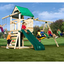 Ultimate Creekside Swing Set, Kids Swing Sets | Childrens Outdoor Swing Sets | ABaby.com