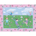 Soccer Friends Wall Art, Girls Wall Art | Artwork For Girls Room | ABaby.com