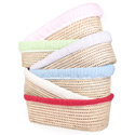 Cable Knit Moses Basket, Moses Basket for Newborn | Wicker Basket Bassinet | aBaby.com