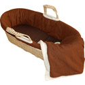 Sherpa Suede Moses Basket, Moses Baskets | Wicker Moses Basket | Baby | ABaby.com