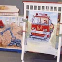 Tractors and Trucks Crib, Panel Crib | Modern Panel Crib | ABaby.com