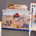 Tractors and Trucks Changing Table, Train And Cars Themed Nursery | Train Bedding | ABaby.com