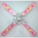 Pink Moon and Stars Ceiling Fan,