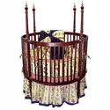 Round Spindle Crib With Finials, Round Cribs for Babies | Circular Crib | Unique | Nursery