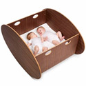 Scandinavian Twin Cradle, Wooden Bassinet | Antique Cradles | ABaby.com