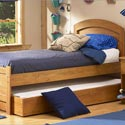 Country Pine Bed with Trundle , Childrens Twin Beds | Full Beds | ABaby.com