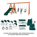 Pioneer Deluxe DIY Swing Set Kit, Outdoor Toys | Kids Outdoor Play Sets | ABaby.com
