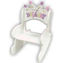Toddler Princess Crown Rocker, Kids Chairs | Personalized Kids Chairs | Comfy | ABaby.com
