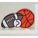 Orange Sports Bookends, Sports Nursery Decor | Sports Wall Decals | ABaby.com