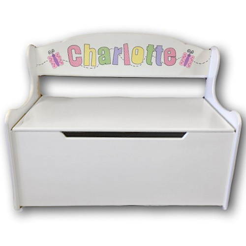 Superior White Gloss Deacon Toy Bench, Kids Toy Box | Personalized Toy Chest | Wood  Toy Design Ideas