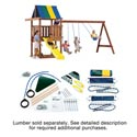 Wrangler Custom DIY Swing Set Kit, Outdoor Toys | Kids Outdoor Play Sets | ABaby.com