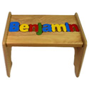 Personalized Wooden Puzzle Stools