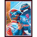 Stock Car Driver Print, Sports Themed Nursery | Boys Sports Bedding | ABaby.com