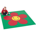 Sunflower Activity Mat, Nursery Rugs | Baby Area Rugs | Baby Room Rugs | ABaby.com