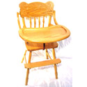 Sunburst Wooden Highchair