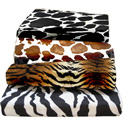 Animal Print Woven Cotton Crib Sheet
