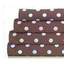 Round Crib Chocolate Dots Sheet, Polka Dot Round Crib Sheets | Polka Dot Sheets | ABaby.com