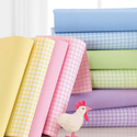 Pastel Gingham Cotton Crib Sheet