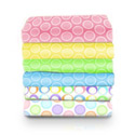 Round Crib Pastel Bubbles Sheet