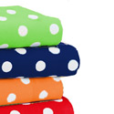 Round Crib Primary Dots Sheet, Polka Dot Round Crib Sheets | Polka Dot Sheets | ABaby.com