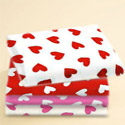 Porta Crib Primary Hearts Sheet, Porta Crib Sheets | Mini Crib Sheet Set | ABaby.com