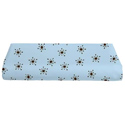 Round Crib Snowflakes Cotton Sheet