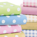 Cradle Pastel Polka Dots Sheet, Toddler Sheets | Baby Crib Sheets | ABaby.com