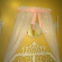 Princess Petite Bows Canopy, Bed Crowns | Baby Canopy | Bed Crowns For Girls | ABaby.com