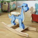 Dinosaur Kingdom Rocker, Kids Rocking Horse | Personalized Rocking Horses | ABaby.com