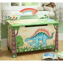 Dinosaur Kingdom Toy Box, Kids Toy Boxes | Personalized Toy Chest | Bench | ABaby.com