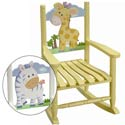 Safari Child's Rocking Chair, Kids Chairs | Personalized Kids Chairs | Comfy | ABaby.com