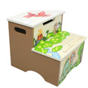 Dinosaur Kingdom Storage Step Stool, Dinosaurs Themed Nursery | Dinosaurs Bedding | ABaby.com