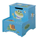 Froggy Storage Step Stool, Frogs And Bugs Themed Toys | Kids Toys | ABaby.com