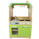Green Play Kitchen with Dual Washer Set