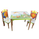 Knights and Dragons Table and Chair Set, Kids Table & Chair Sets | Toddler Tables | Desk | Wooden