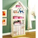 Pink Crackle Finish Bookcase, Baby Bookshelf | Kids Book Shelves | ABaby.com