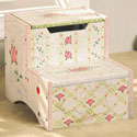 Pink Crackle Finish Storage Step Stool, Step Stools For Children | Kids Stools | Kids Step Stools | ABaby.com