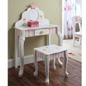 Princess and Frog Vanity Table & Chair Set, Frogs And Bugs Themed Furniture | Baby Furniture | ABaby.com