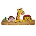 Sunny Safari Peg Hooks, African Safari Themed Nursery | African Safari Bedding | ABaby.com