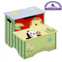 Sunny Safari Storage Step Stool, African Safari Themed Toys | Kids Toys | ABaby.com