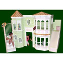 Victorian Bunk Bed with Playhouse, Childrens Beds | Girls Twin Bed | ABaby.com